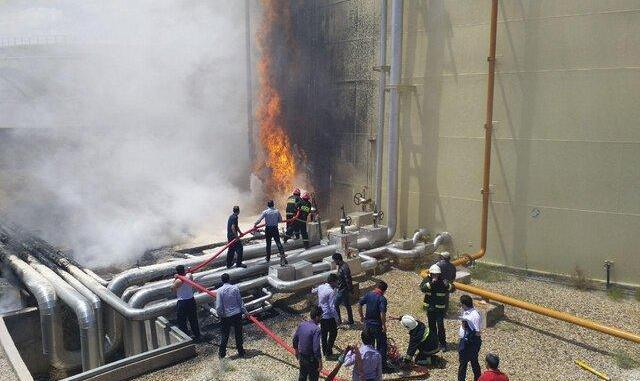 ادامه آتش سوزهای زنجیره ای یا عمدی در کشور: نیروگاه سیکل ترکیبی شهید باکری سمنان