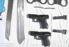 تصاویر | کشف اسلحه گرم و قمه توسط پلیس تهران