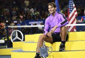 انصراف نادال از شرکت در تنیس اپن آمریکا