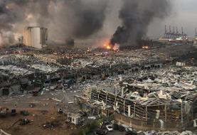 تصاویر بیروت بعد از انفجار بزرگ | تصویری تلخ از بندر بیروت قبل و بعد از انفجار