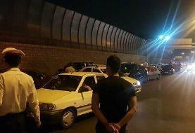 هجوم مسافران به جاده چالوس!/ آزادراه تهران - شمال بسته شد/عکس
