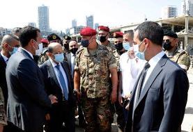 تصاویر | بازدید میشل عون از محل انفجار بیروت