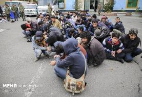 دستگیری ۱۴۷۲ خرده فروش مواد مخدر و جمع آوری ۱۱۹۶ معتاد متجاهر