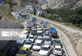 ترافیک سنگین در جاده هراز و چالوس