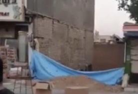 ببینید   ویدئویی وحشتناک از ریزش و آتش سوزی ساختمان دو طبقه در تهران