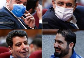 عکس | خنده متهمان در دادگاه مدیران سابق بانک مرکزی