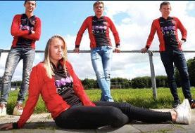 عکس | تصمیم عجیب در هلند؛ فوتبالیست زن عضو تیم مردان شد
