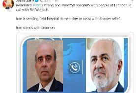 گزارش توئیتری ظریف از نتایج گفتگویش با همتای لبنانی