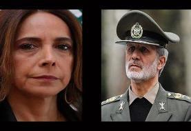 گفت وگوی تلفنی  وزیر دفاع با همتای لبنانی خود