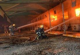 حریق ایستگاه قطار