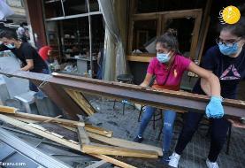 (تصاویر) اقدام جالب جوانان لبنانی پس از انفجار بیروت