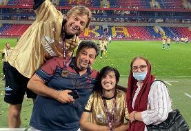 عکس | جشن قهرمانی سردار آزمون در کنار خانواده