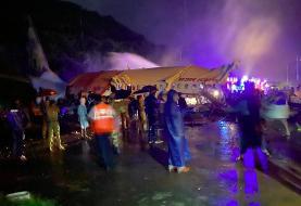 حادثه برای یک هواپیما در هند (+عکس)/ ۱۴ کشته و ۱۲۳ زخمی