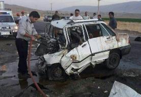 ۶ کشته در تصادف مسیر ایرانشهر به مهرستان