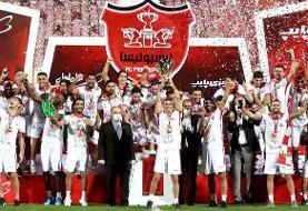 فیلم | لحظه بالا بردن جام قهرمانی پرسپولیس توسط سیدجلال حسینی