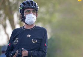 (تصاویر) دوچرخه سواری حاکم دبی