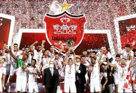 اهدای جام قهرمانی و جشن قهرمانی پرسپولیس در کمال امنیت برگزار شد