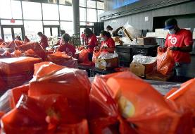 Out of work and with families to feed, some Americans are lining up at food banks for the first ...