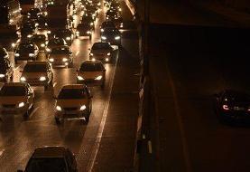 ترافیک سنگین در ورودیهای شرقی تهران | هراز تا ۲ بامداد یکطرفه است