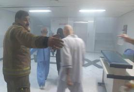 وقوع حریق در بیمارستانی در خیابان حافظ تهران /کسی آسیب ندید