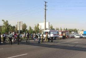 اتوبوس در بزرگراه بعثت به عابران زد و یک نفر را کشت