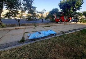 برخورد مرگبار اتوبوس با عابران در بزرگراه بعثت