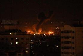 حمله هوایی اسراییل به شمال غزه