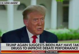 President Trump baselessly accuses Biden of taking performance-enhancing drugs during primary ...
