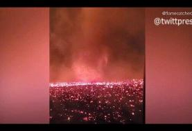 ببینید | گردبادی از آتش در کالیفرنیا