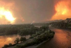 ببینید | آتشسوزی تاریخی جنگلی در آمریکا ادامه دارد