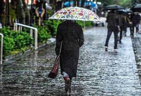آغاز بارندگی در استان های شمالی