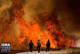 ویدئو / تداوم آتشسوزیهای شدید در غرب آمریکا