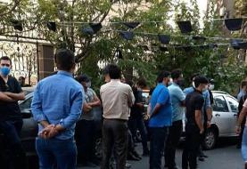 تجمع هواداران استقلال مقابل فدراسیون فوتبال
