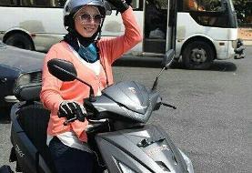 عکس | تاکسی موتوری زنان در لبنان راهاندازی شد