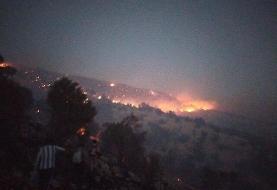 استمداد رئیس منابع طبیعی لنده برای کمک به مهار آتش گسترده در جنگلهای کوه سفید