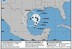Wilfred might form in the Gulf of Mexico on Friday. It's the last name on the list.