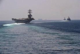 ناو هواپیمابر آمریکایی وارد خلیج فارس شد | عبور از تنگه هرمز