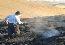 مهار آتشسوزی مراتع روستایی در سقز