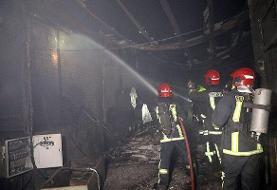 آتشسوزی سنگین یک کارگاه در مشهد مهار شد