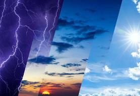 رگبار و رعد برق مهمان برخی مناطق کشور/ کاهش ۸ تا ۱۰ درجهای هوا طی ۳ ...