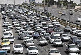 ترافیک نیمه سنگین در آزادراه پردیس-تهران/محورهای۳استان بارانی است