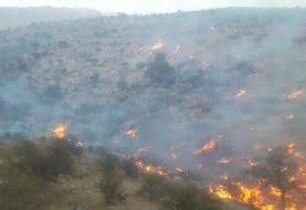 آتش در کوه کَر جهرم همچنان میتازد