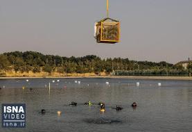 ویدئو / پاکسازی دریاچه آزادی پس از حدود نیم قرن