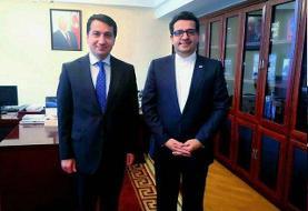 بررسی تحولات روابط دوجانبه در دیدار موسوی با دستیار رئیس جمهور آذربایجان