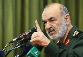 ببینید   سردار سلامی: اگر یک تار مو از یک ایرانی کم شود تمام کرک و پشم شما را به باد میدهیم