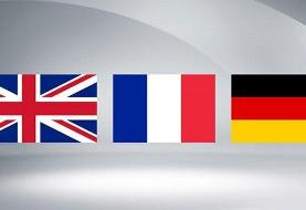 بیانیه مشترک وزرای خارجه تروئیکای اروپایی درباره فعال شدن مکانیزم ماشه توسط آمریکا