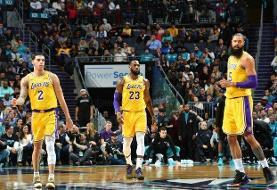 دومین برد لیکرز در نیمهنهایی بسکتبال NBA