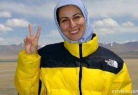 یک زن ایرانی با قدمهایش ترسیم میکند؛