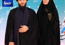(عکس) الهام چرخنده و همسرش در افتتاحیه جشنواره فیلم مقاومت