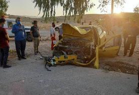 یک کشته و ۲ مصدوم در پی برخورد کامیون با سمند در محور دهدشت-بهبهان